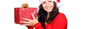 Girl with Santa Hat