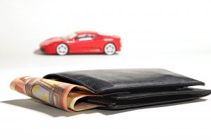 Wallet and Car